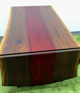 Live edge walnut w/ Paduk Center Panel