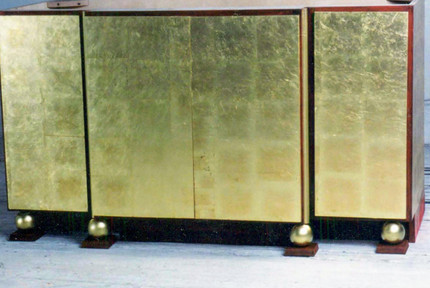 Sideboard with gold leaf