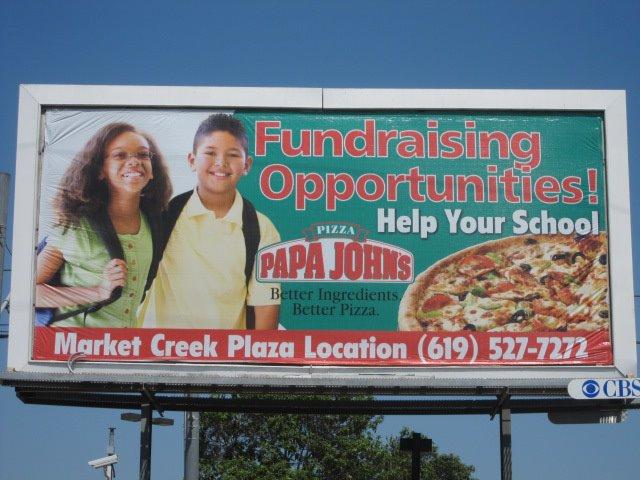 Papa John's Pizza Billboard