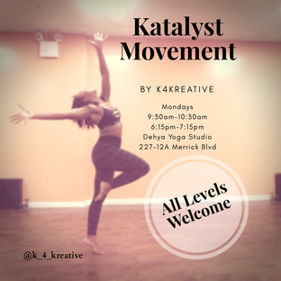 Join K4kreative Mondays AND Wednesdays at Dehya Yoga Studios