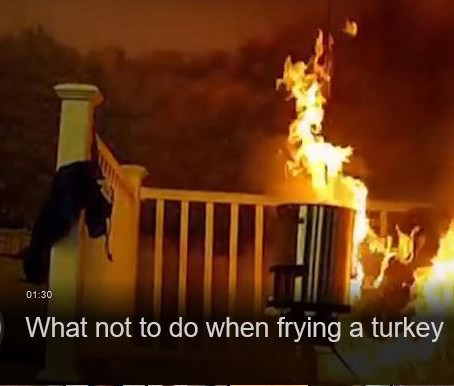 What not to do when frying a turkey this Thanksgiving.