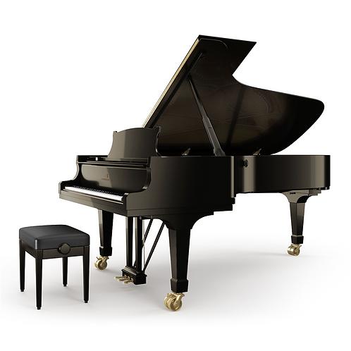 Steinway &Sons C vleugelpiano hoogglans zwart