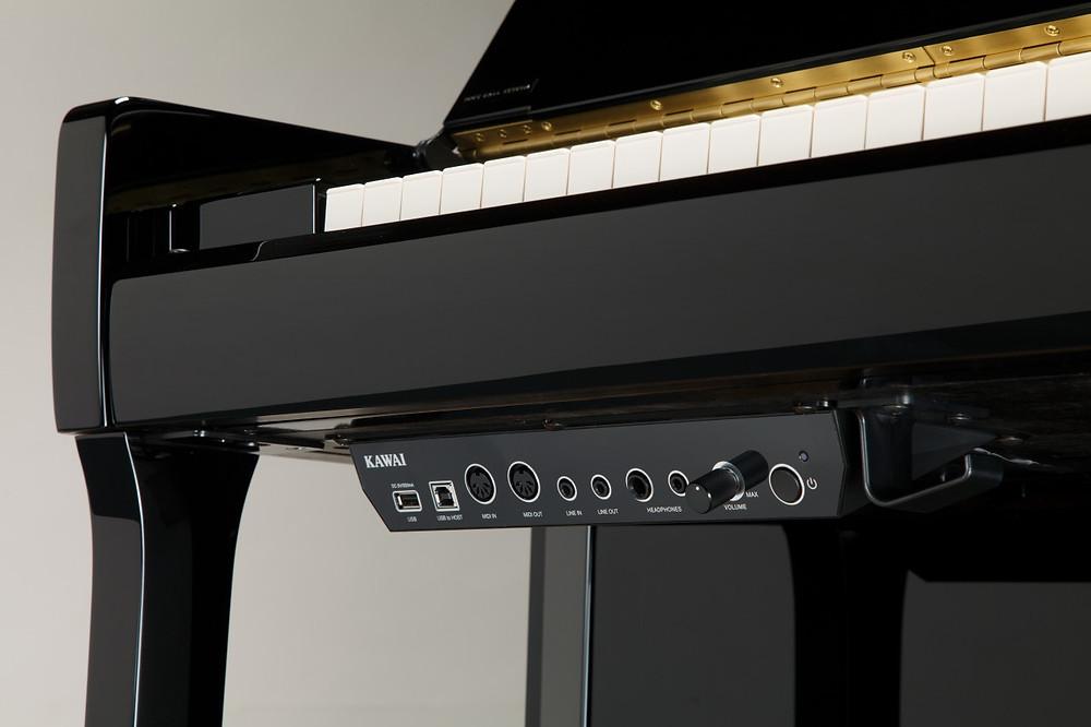 Het aures silentsysteem van de K300 piano van Kawai