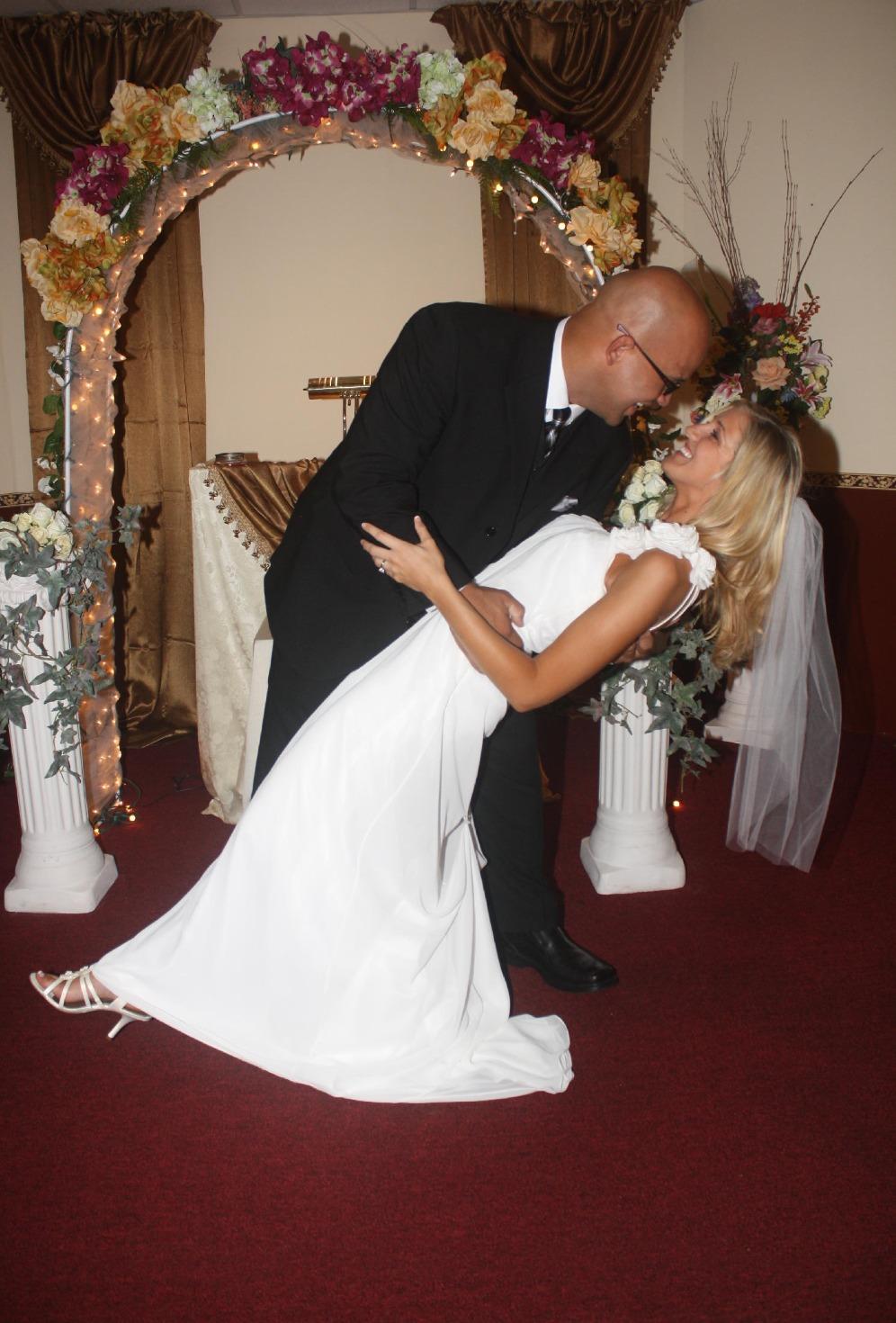 Husband wife wedding chapel