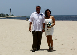 pompano beach wedding sand