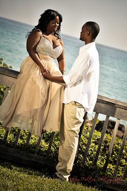 beach wedding marriage couple
