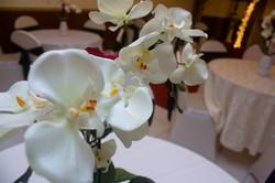 wedding chapel flower arrangement