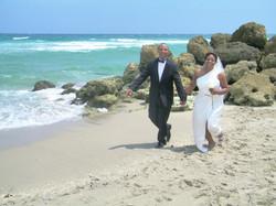 deerfield beach bride groom sand