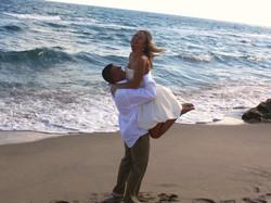 husband wife beach wedding deerfield
