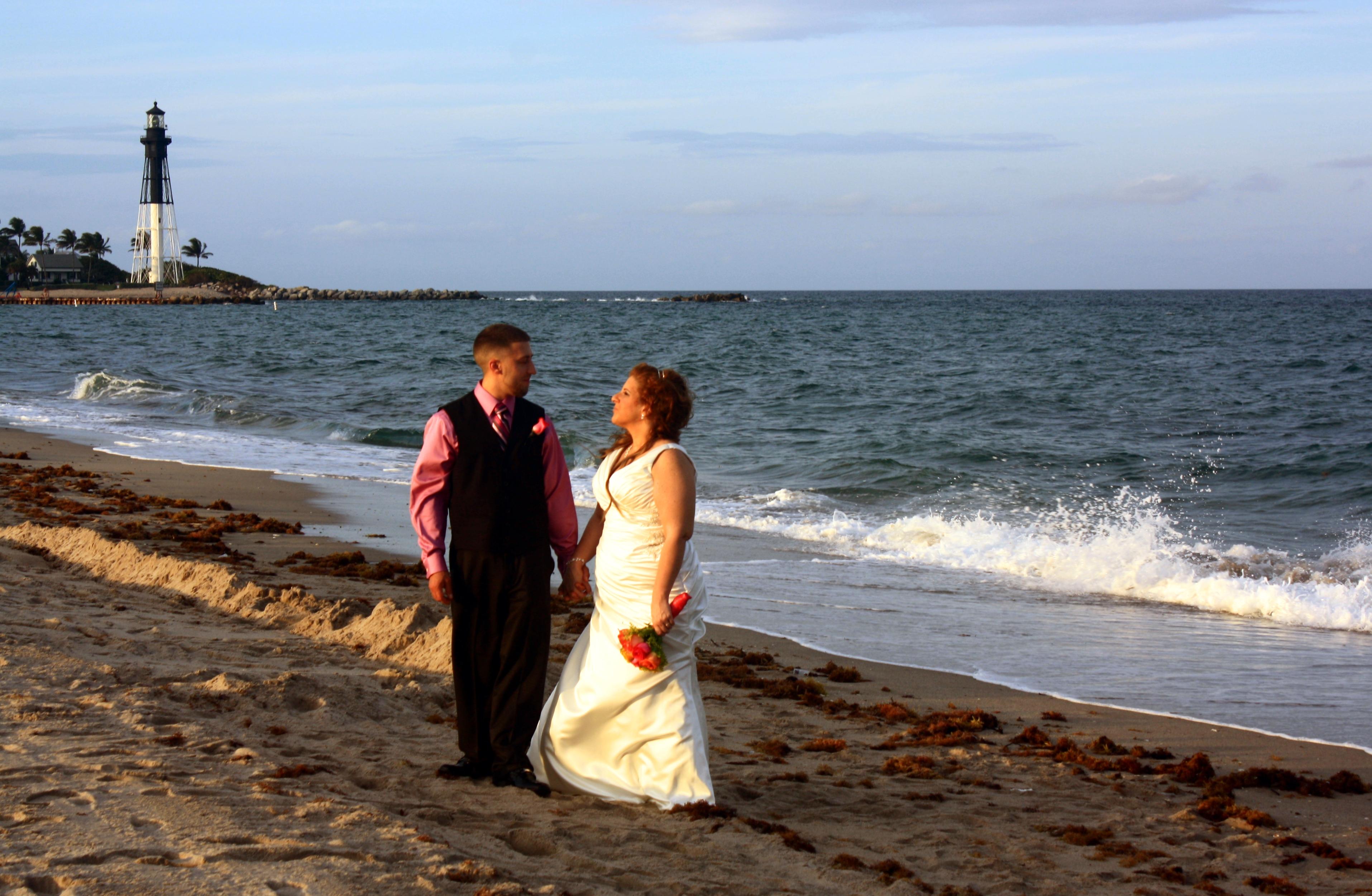 pompano beach lighthouse wedding