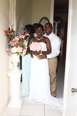 wedding chapel bride groom