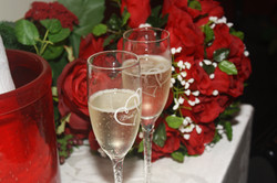 marriage champagne toast