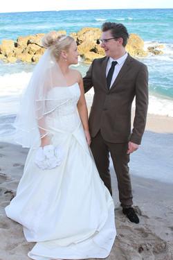 deerfield beach wedding couple