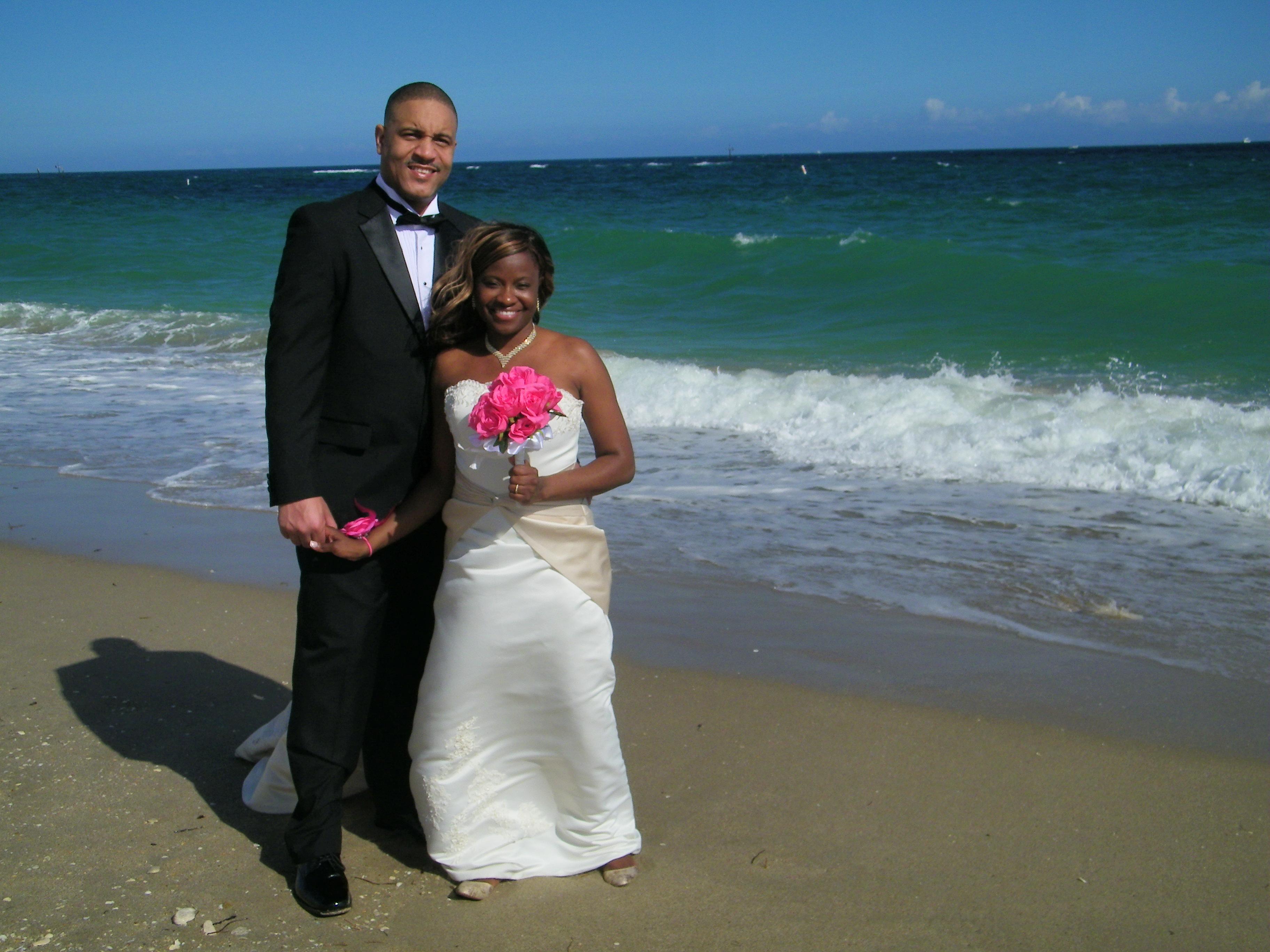 pompano beach bride groom wedding