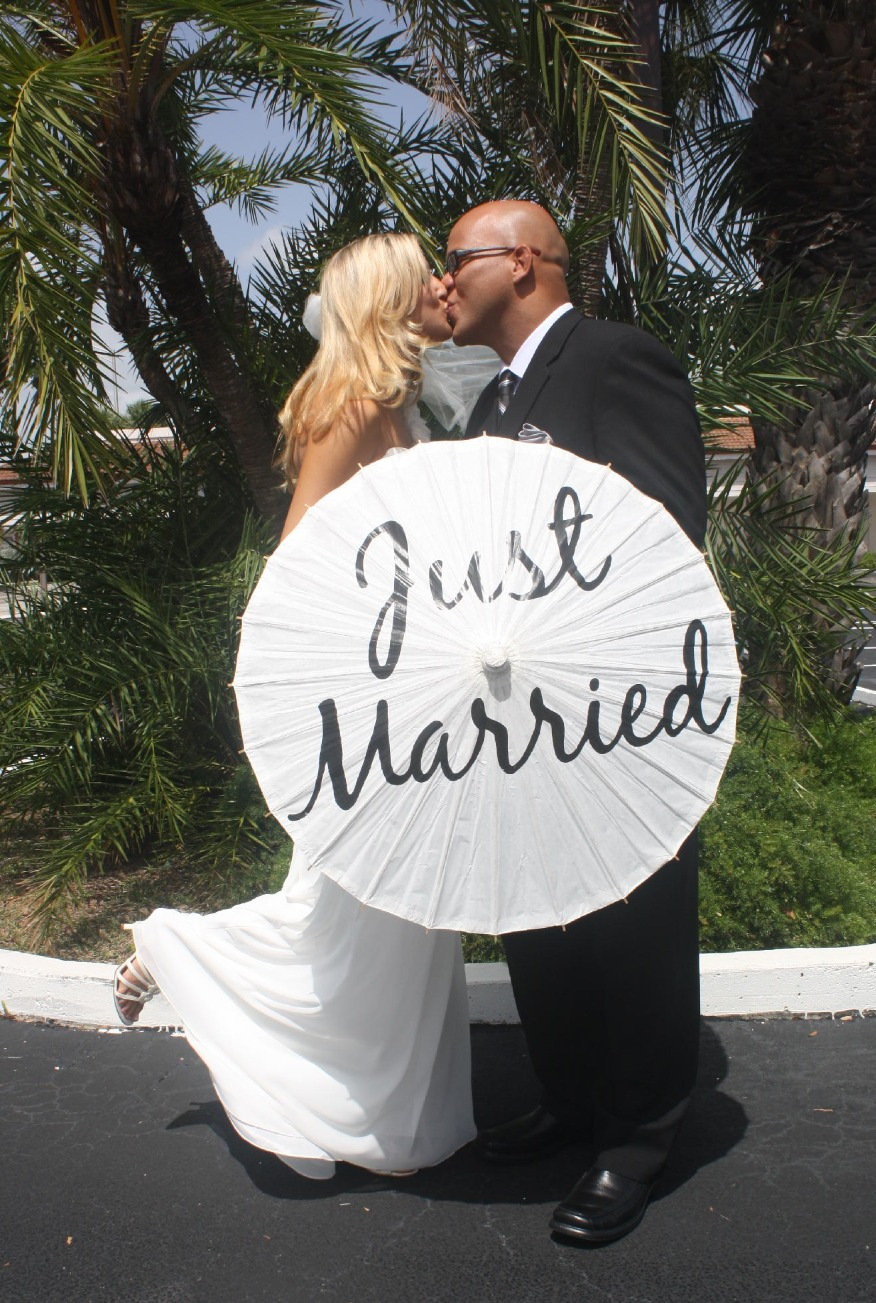 just married husband wife