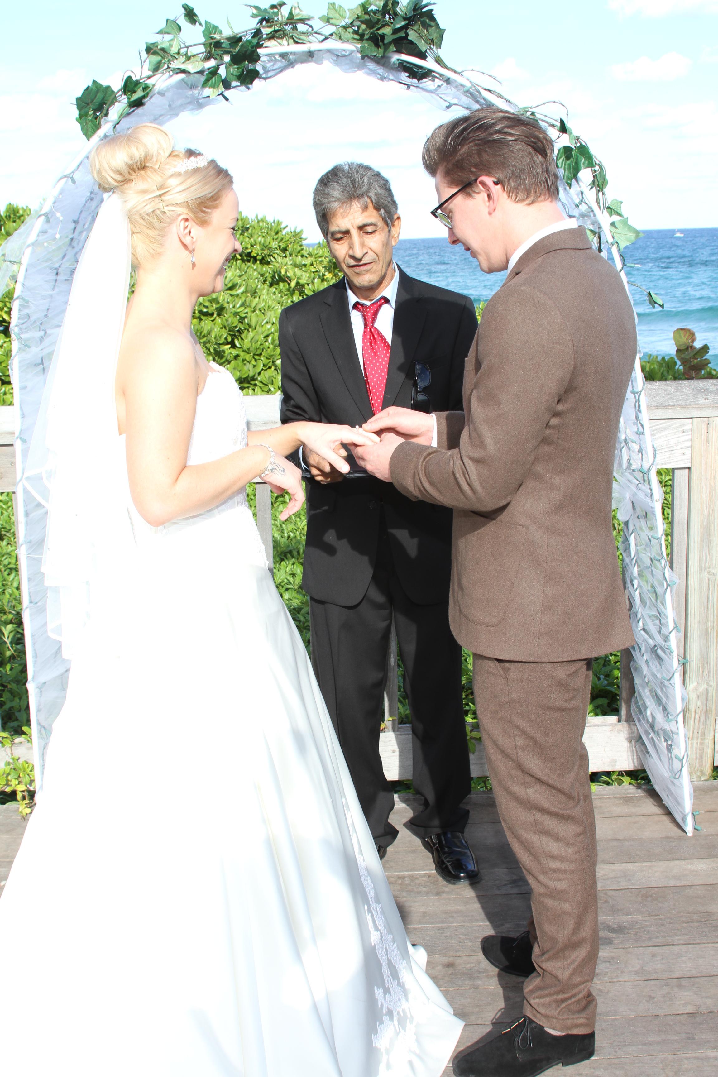 deerfield beach boardwalk wedding