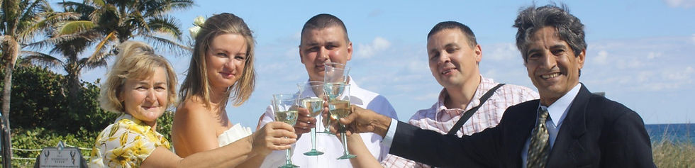 beach wedding toast
