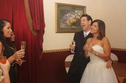 wedding champagne toast bride groom