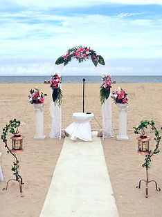 florida beach wedding arch aisle