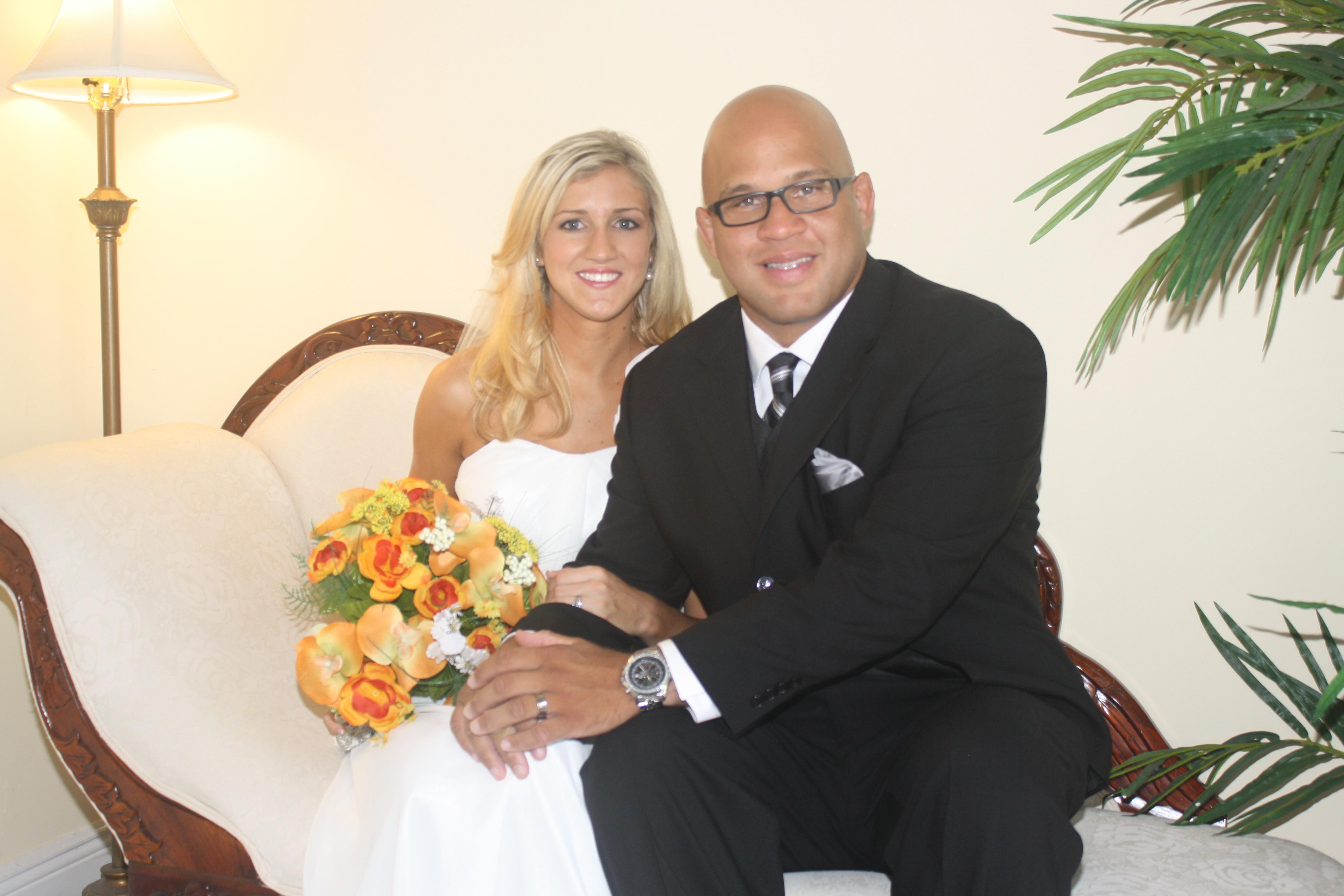 happy couple wedding chapel