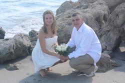 beach wedding couple deerfield
