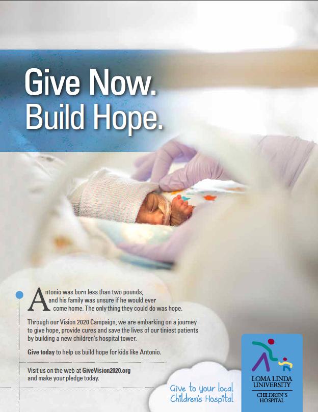 Loma Linda University Children's Hospital Print Ad - Giving Campaign