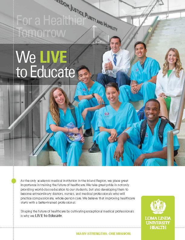 Loma Linda University Health Print Ad - We Live