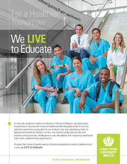 Loma Linda University Health Print Ad - We Live