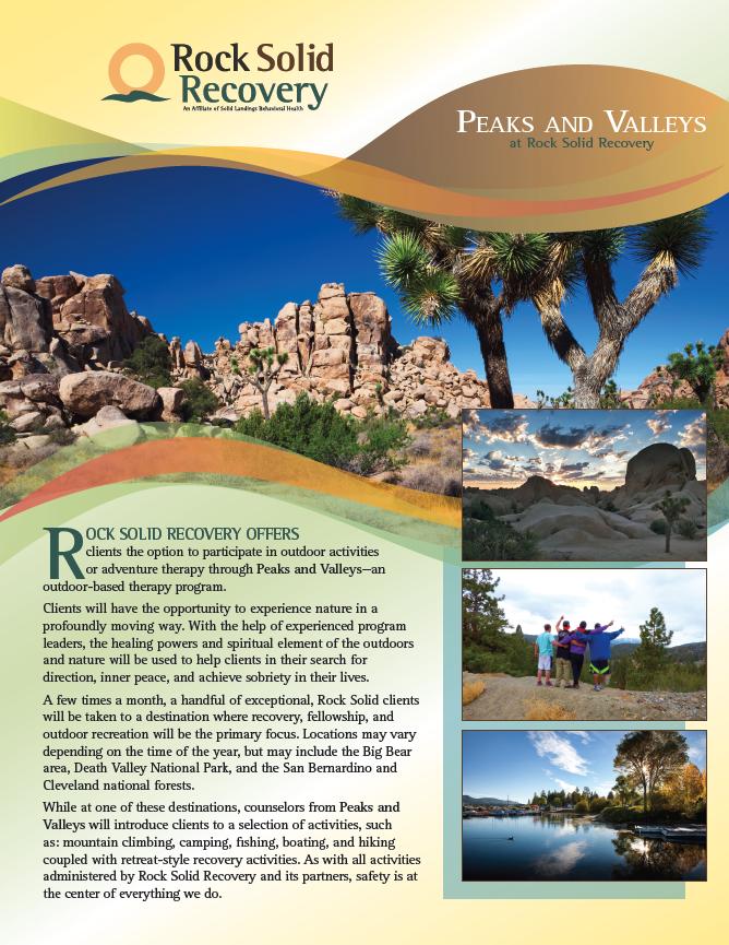 Rock Solid Peaks & Valleys Flyer
