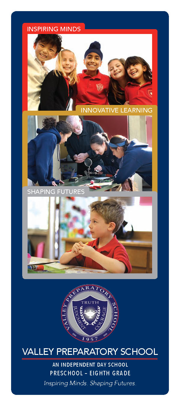 Valley Prep School 3-Panel Brochure Cover