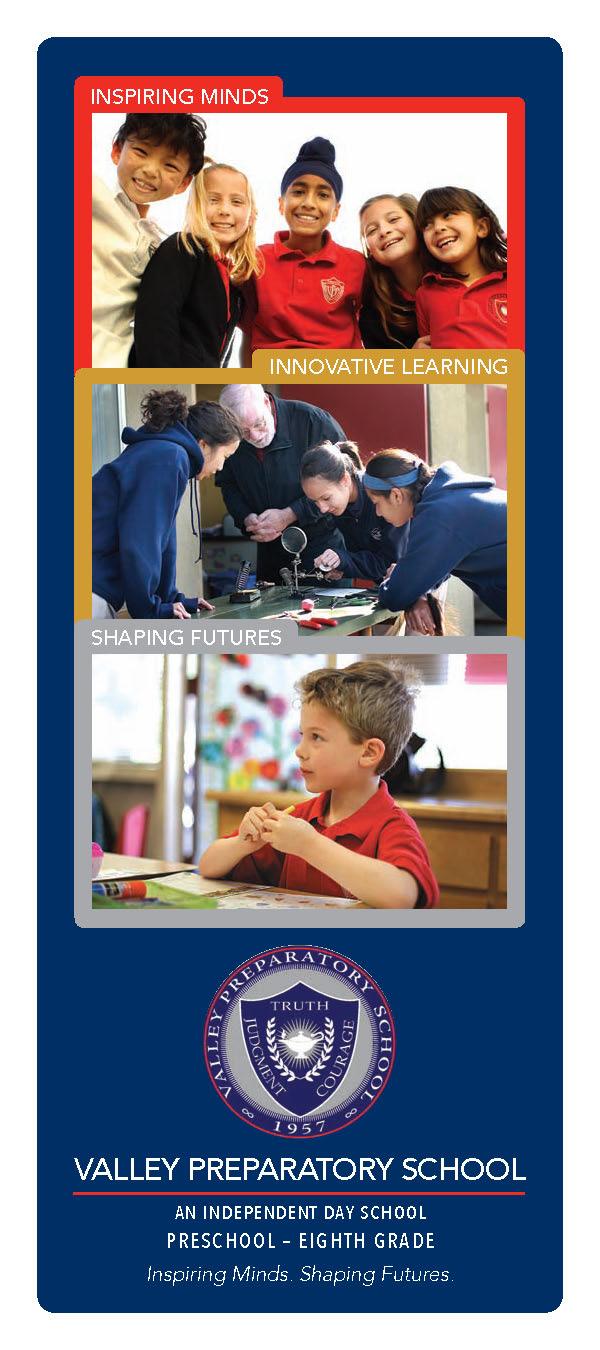 Valley Prep School 3-Panel Brochure Cover