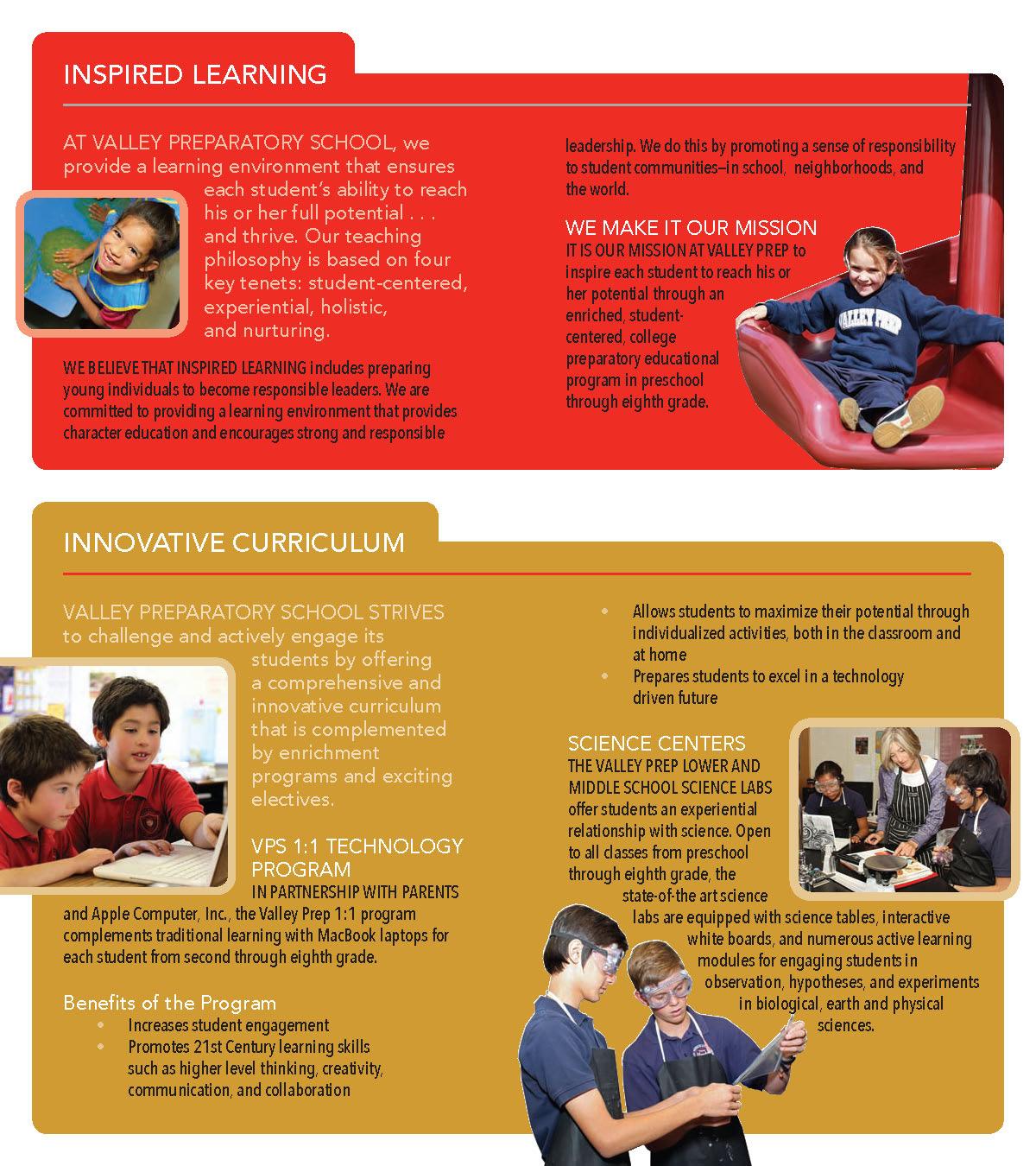 Valley Prep School 3-Panel Brochure