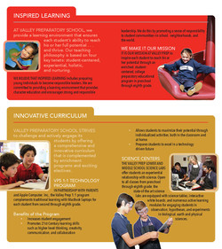 Valley Prep School 3-Panel Brochure