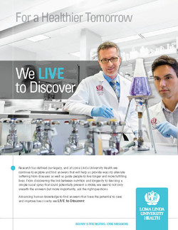 Loma Linda University Health Print Ad