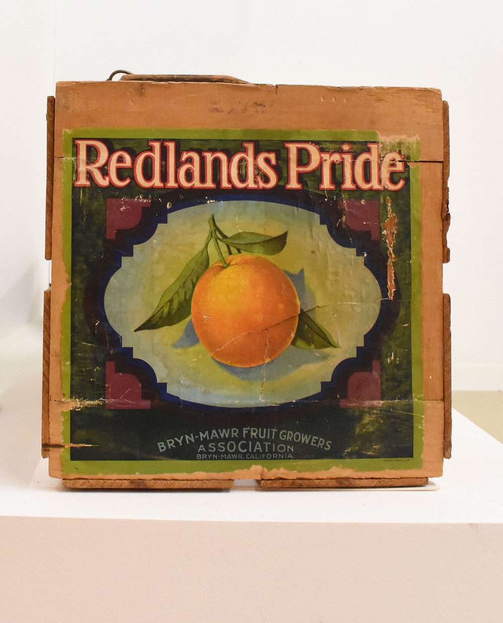 Orange Crate Label from the Museum of Redlands Showcase