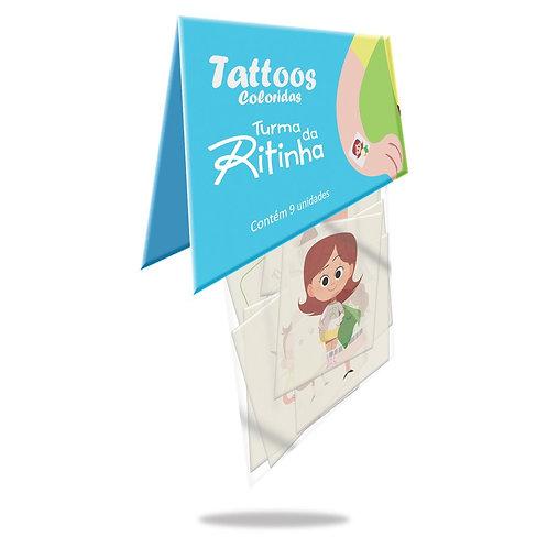 Tattoos - Turma da Ritinha PCT com 9 unidades