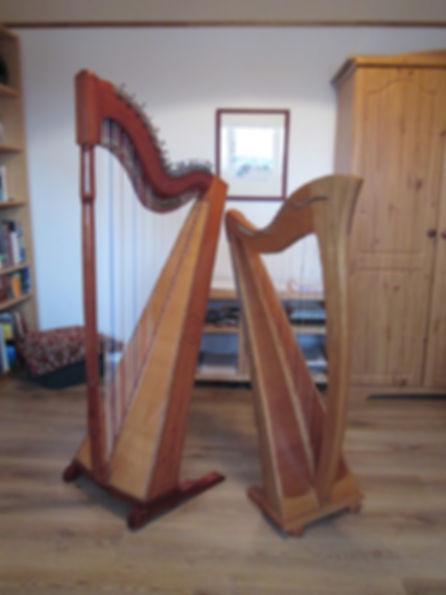 Paraguayan harp and Scottish Clarsach