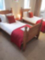 roomy single beds