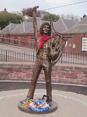 bon scott (of ac/dc) statue