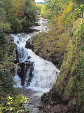 the reekie linn, just over the county border in perthshire