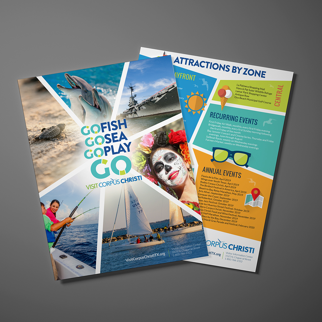 Visit Corpus Christi Flyer design