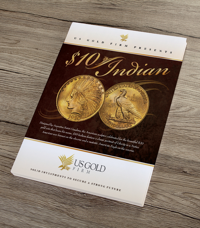 US Gold Firm $10 Indian Brochure