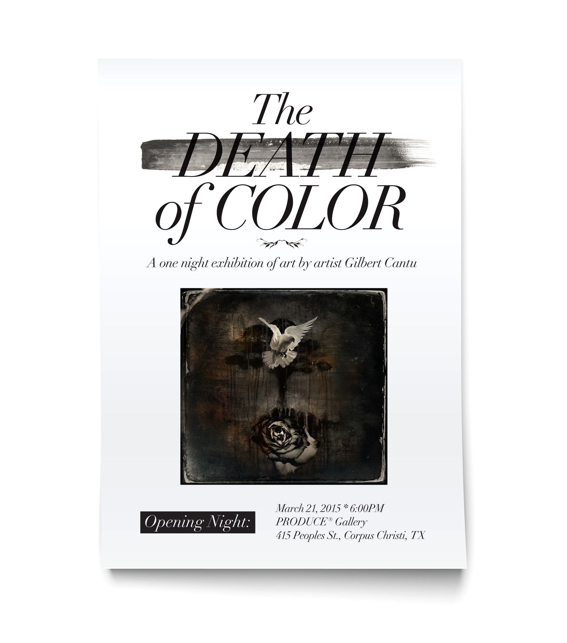 """The Death of Color"" Flyer Design"