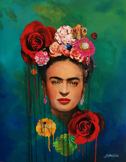 The Radiant One - Frida Kahlo - by Artist Gilbert Cantu