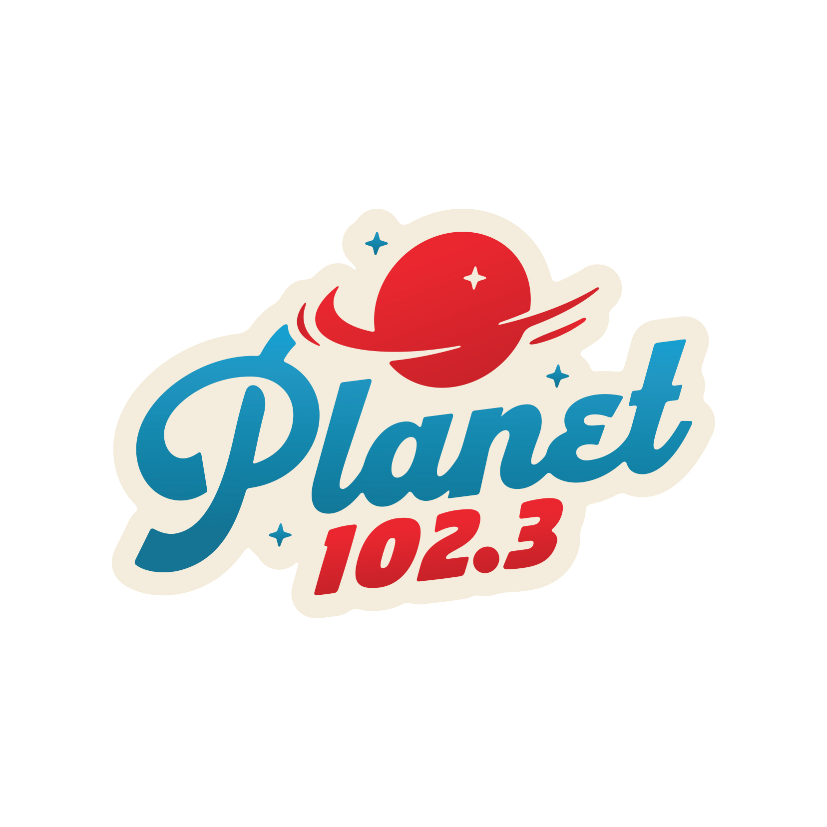 Planet 102.3 logo design (unused)