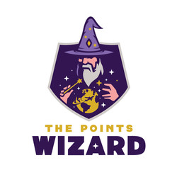 The Points Wizard Logo Design