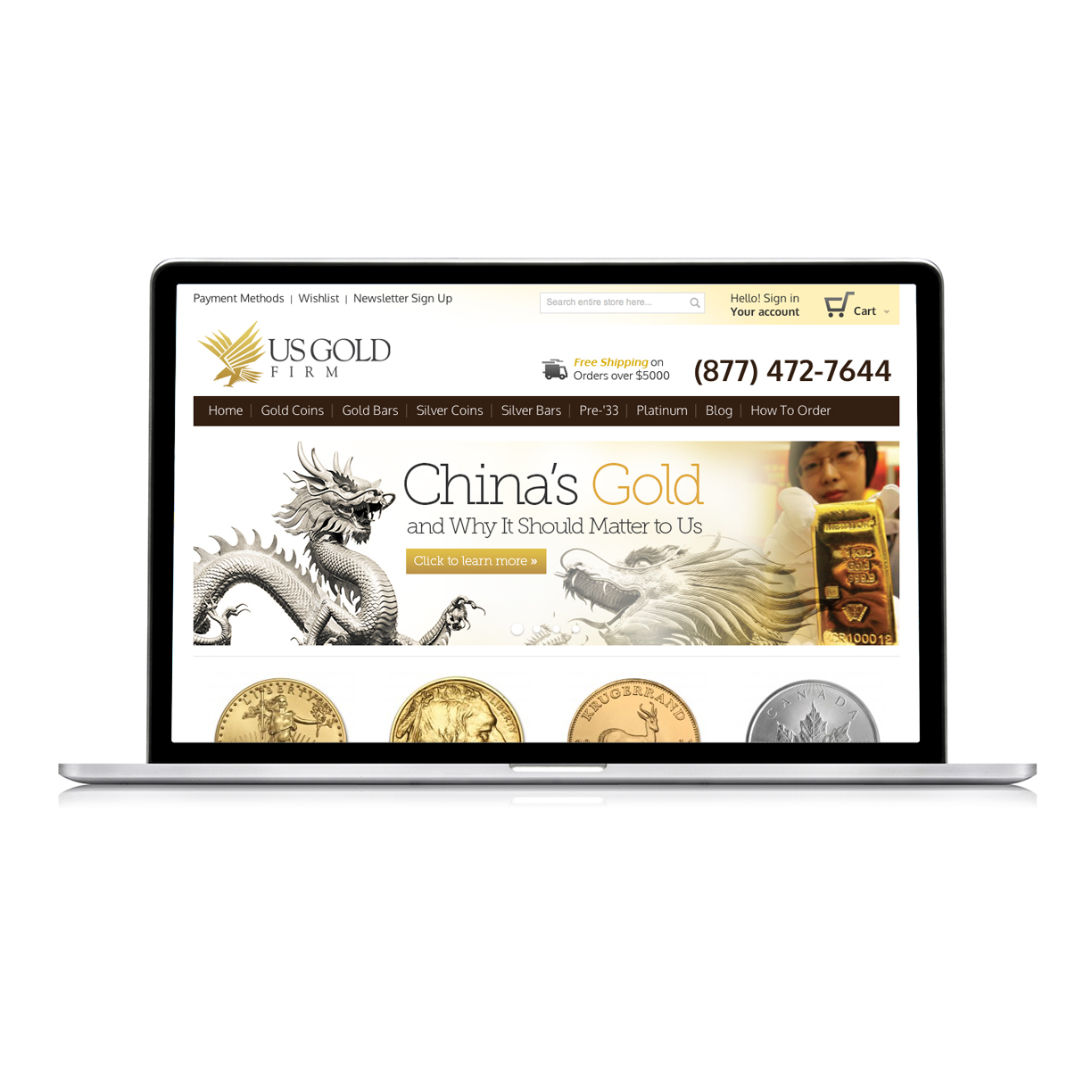 Website Design for US Gold Firm