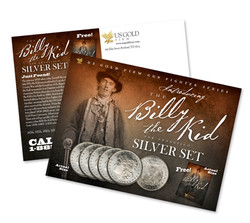 Billy the Kid us gold firm postcard