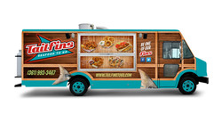 Tailfins Food Truck Wrap Design