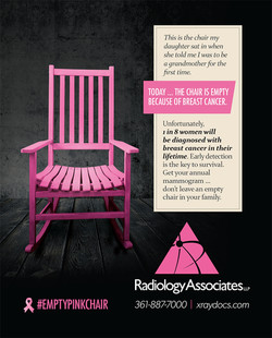 Empty pink Chair ad 2